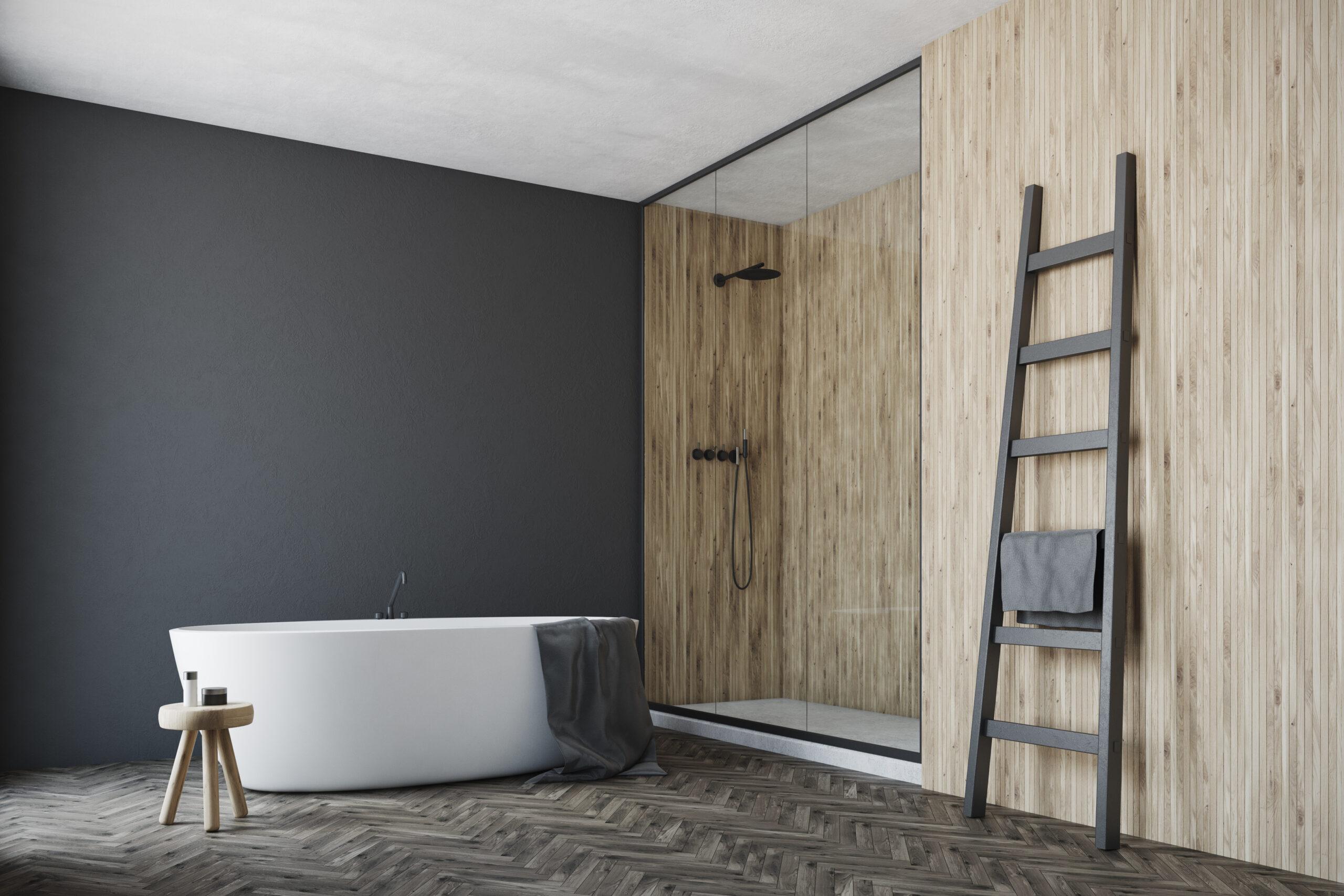 Łazienka w stylu skandynawskim z PORTA drzwi